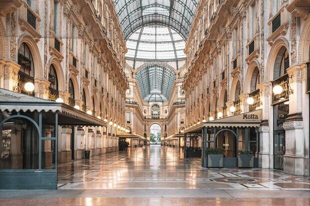 Italiaanse modestad Milaan Couture