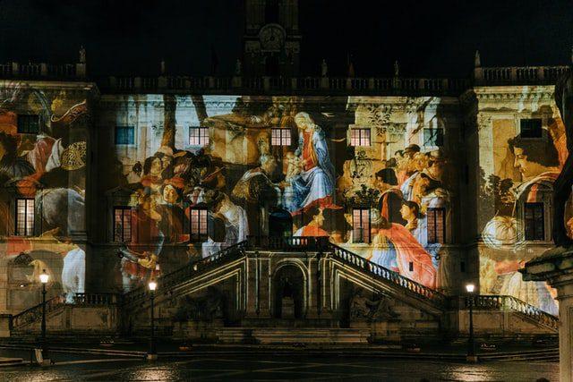 Kerst in Rome Italië